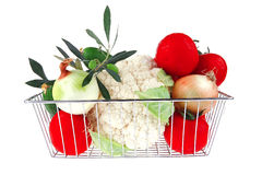 Vegetable basket Royalty Free Stock Photos