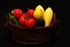 Vegetable Basket Stock Photo