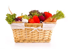 Vegetable basket Stock Images