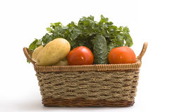 Vegetable in basket Royalty Free Stock Image