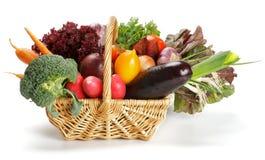 Vegetable Basket Stock Photo