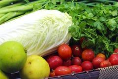 Vegetable basket. Vegetables in brown basket Stock Photography