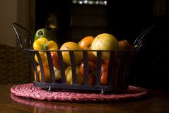 Vegetable basket assortment Royalty Free Stock Images