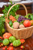 Vegetable basket Stock Photos