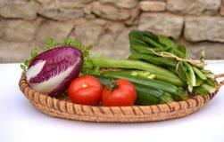Vegetable basket Stock Images