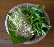 Vegetable on basket Stock Photos