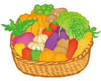 Vegetable basket Royalty Free Stock Images