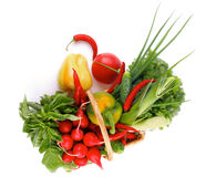 Vegetable Basket Stock Photography