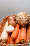 Vegetable in the basket Royalty Free Stock Image