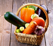 Vegetable Basket Royalty Free Stock Images
