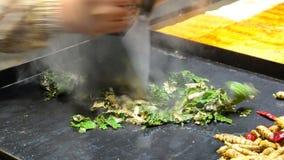 Vegetable BBQ stock video