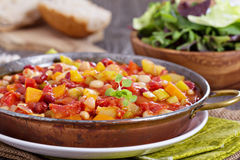 Vegetable and beans stew Royalty Free Stock Photography
