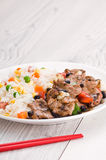 Vegetable beef fried rice Royalty Free Stock Image