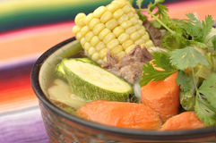 Vegetable and beef soup Stock Photography