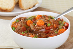 Vegetable Beef Soup Stock Photography