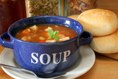 Vegetable Beef Soup Stock Image