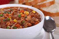 Vegetable Beef Soup Stock Images
