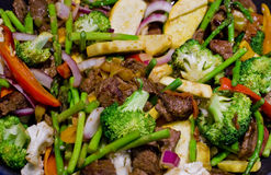 Vegetable and beef Stir Fry Stock Photo