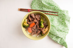 Vegetable beef stir fry Stock Images