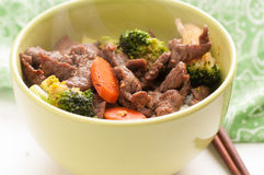Vegetable beef stir fry Stock Photo
