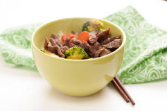 Vegetable beef stir fry Royalty Free Stock Photo