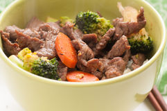 Vegetable beef stir fry Royalty Free Stock Images