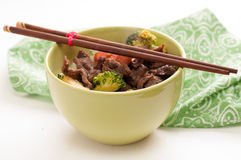 Vegetable beef stir fry Royalty Free Stock Image
