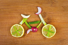 Vegetable bike Royalty Free Stock Photo