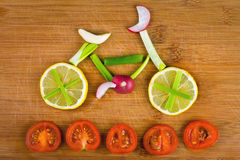 Vegetable bike Royalty Free Stock Photography