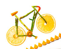 Vegetable bike trail Stock Images