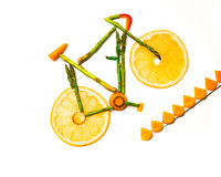 Vegetable bike trail Stock Photography