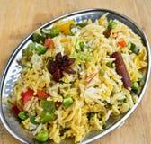 Vegetable Biryani Stock Photo