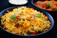 Vegetable Biryani Stock Photo