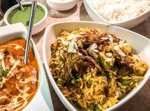Vegetable biryani chicken Makhani royalty free stock images