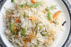 Vegetable Biryani - A popular Indian veg dish Royalty Free Stock Photos