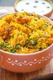 Vegetable Biryani. Vertical close up image Royalty Free Stock Photos