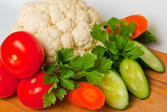 Vegetable on the board Royalty Free Stock Photo