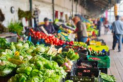 Vegetable Bolhao market Porto, Portugal Stock Photo