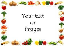 Vegetable border Stock Photography