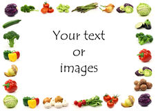 Vegetable border Royalty Free Stock Photos