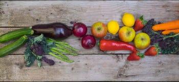 Vegetable border Royalty Free Stock Image