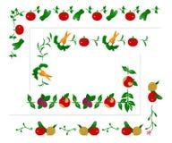 Vegetable borders set Royalty Free Stock Photos