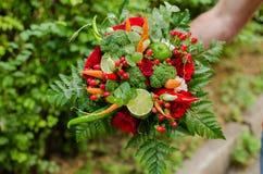 Vegetable bouquet Stock Images