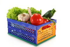 Vegetable box Stock Images