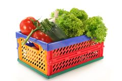 Vegetable box Royalty Free Stock Photography