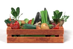 Vegetable in box Royalty Free Stock Images