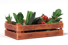 Vegetable in box Stock Images
