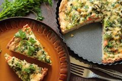 Vegetable broccoli pie Royalty Free Stock Photography