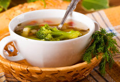 Vegetable broccoli soup Royalty Free Stock Photos