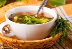 Vegetable broccoli soup Royalty Free Stock Photos